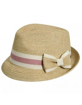 Palarie Betmar Joanne Braided Trilby Natural