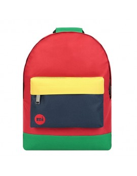 Mi-Pac Backpack Colour Block Red-Navy
