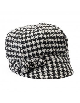 Betmar Adele Knotted Bow Houndstooth