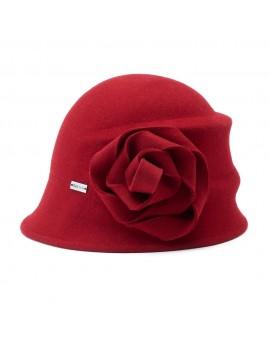 Betmar Christina Alexandrite Cloche Hat Red