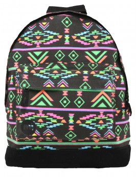 Mi-Pac Backpack Aztec Neon Black