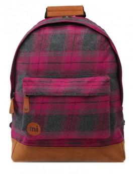 Mi-Pac Backpack Plaid Purple