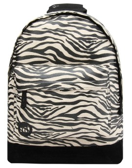 Mi-Pac Backpack Canvas Zebra Black