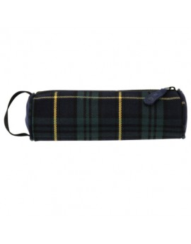 Mi-Pac Pencil Case Tartan Black