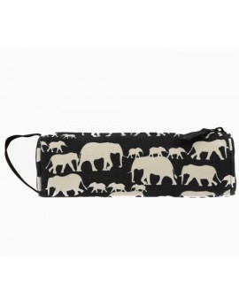 Mi-Pac Pencil Case Elephants Black