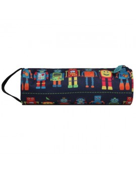 Mi-Pac Pencil Case Robots Blue Multi
