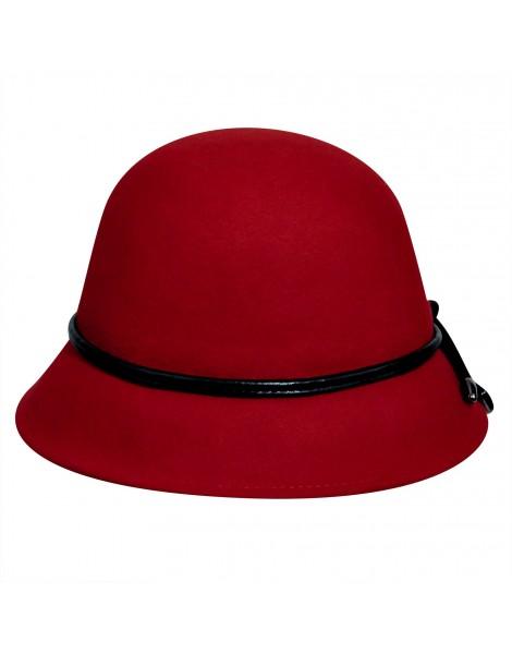 ... Betmar Christina Loop Trim Felt Cloche Hat Red ... b61fd04ff13