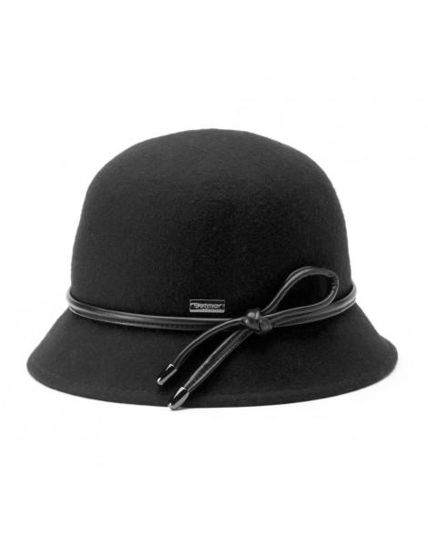 Betmar Christina Loop Trim Felt Cloche Hat Black ... 3fdb2cb4c84