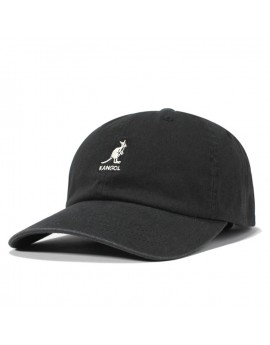 Kangol Washed Cotton Adjustable Baseball Black