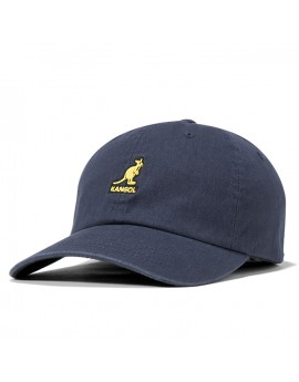 Kangol Washed Cotton Adjustable Baseball Navy